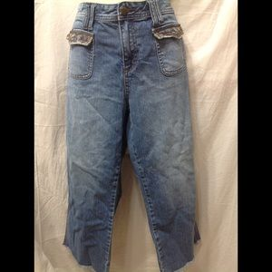 Junior's size 17 MUDD dungaree style jeans
